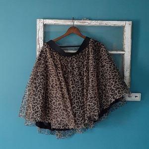 Torrid leopard tuel skirt
